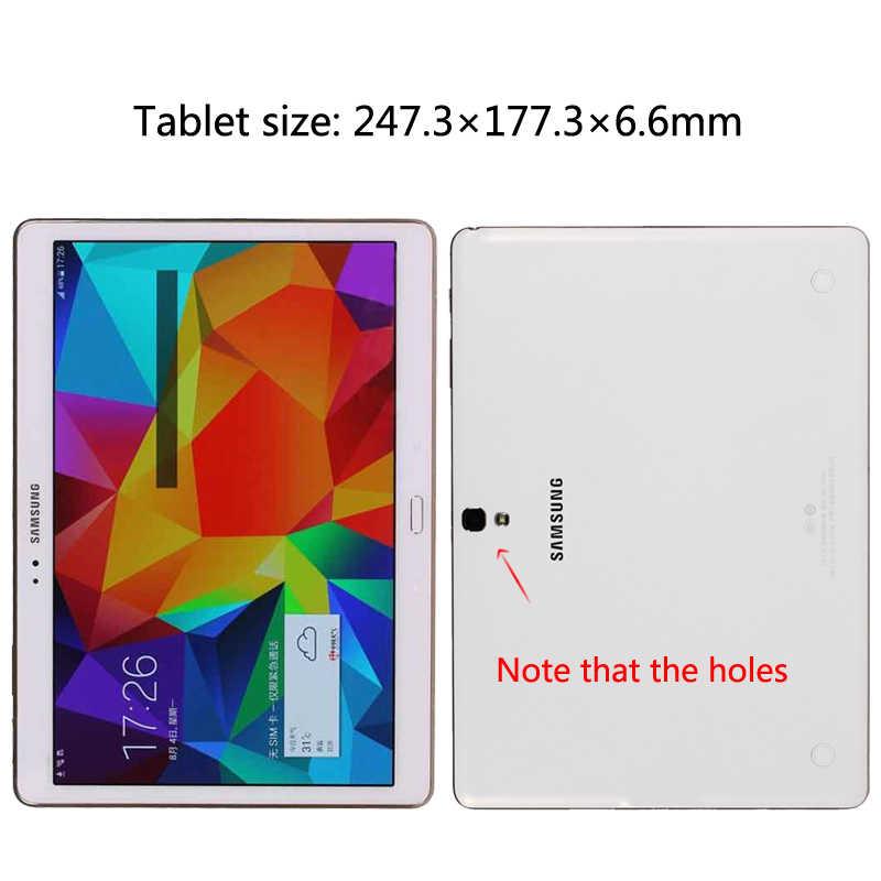 "Skrzynka dla Samsung Galaxy Tab S T800 T805 10.5 ""Tablet ze skóry PU pokrywy skrzynka dla Galaxy Tab S SM-T800 Tablet Para przypadku"