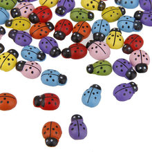 100pcs Mini Ladybugs Shaped Stickers Miniature Ornament DIY Kit For Fairy Garden Dollhouse Plant Party Home Decoration(China)