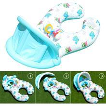 Надувной плавательный круг для мамы и ребенка, плавающий круг для родителей и детей, уплотненное солнцезащитное кольцо с колокольчиком, детская пляжная игрушка