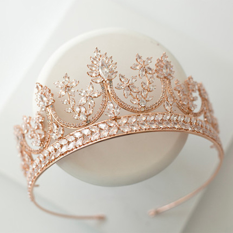 Хрустальные стразы, свадебная корона тиара, диадема, Королевская корона, головной убор, аксессуары для волос, женский свадебный головной уб... - 4