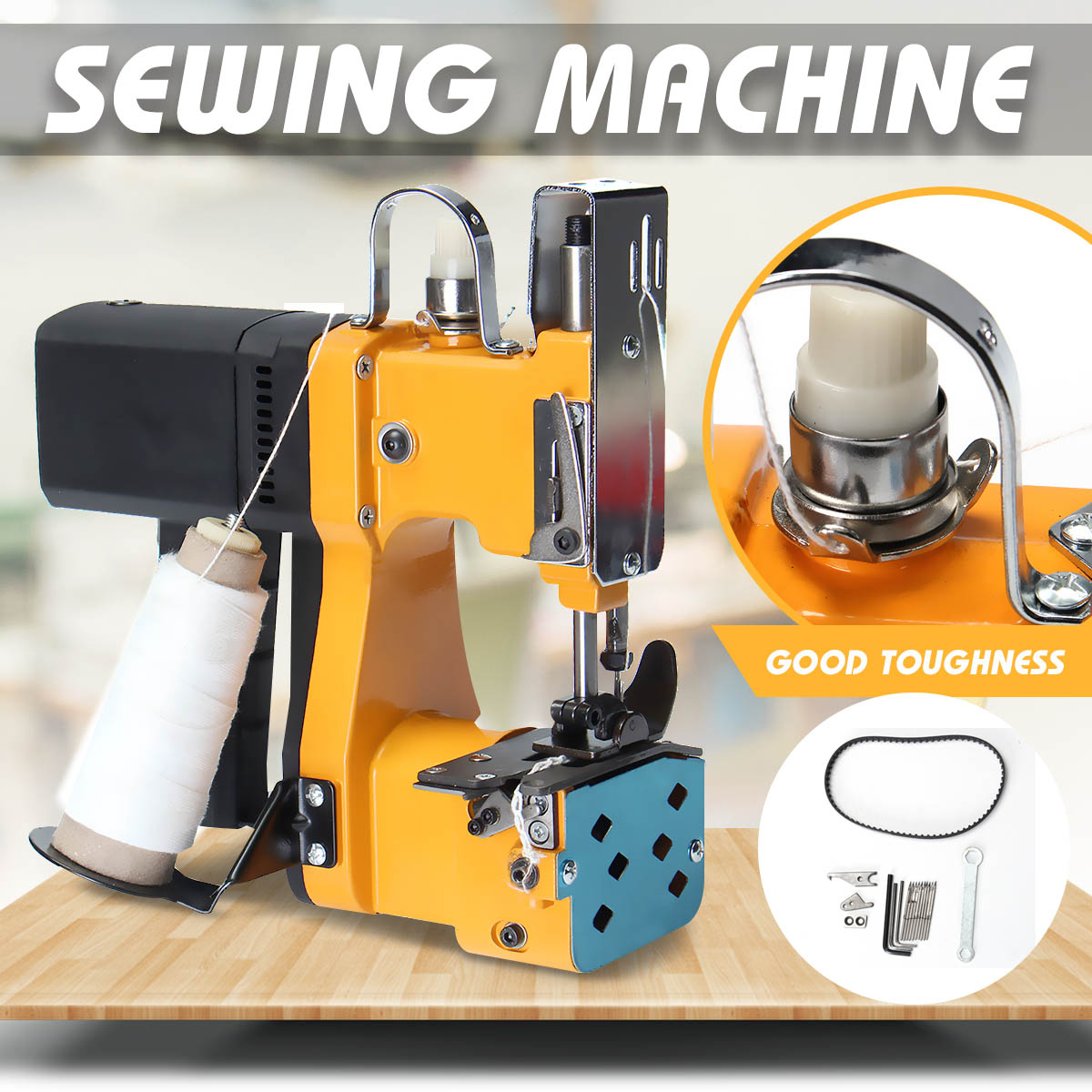 220 v Portable Machine À Coudre Électrique D'étanchéité Machines Kit pour La Maison Textile Industrielle Sac Portable Closer Couture Machine
