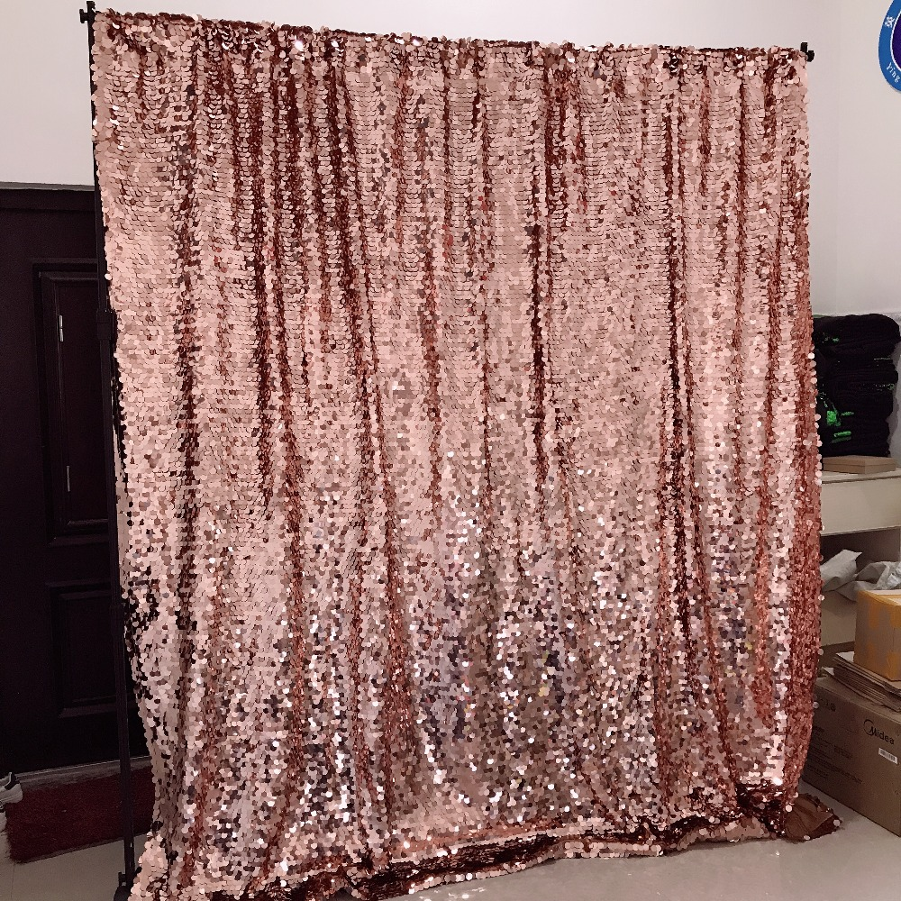 8ft rose gold big sequin backdrop wedding party decoration curtains photo booth background
