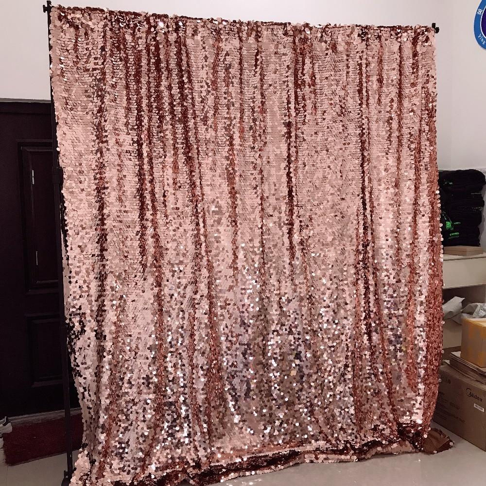 Ev ve Bahçe'ten Parti Arka Planları'de 8ft gül altın büyük pullu zemin düğün parti dekorasyon perdeleri fotoğraf kabini arka plan'da  Grup 1