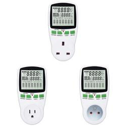 AC Power Meter 220V Digital Wattmeter EU Energy Meter Watt Monitor Analyzer Electricity Cost Diagram Measuring Socket