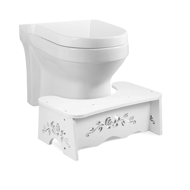 White squatting toilet stool bathroom squat toilet stool 7 inch