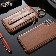 KISSCASE Luxury Card Slot Case For Samsung Galaxy S8 S9 PLUS S7 S6 Edge Magnet Leather Phone Cases Note 8 9