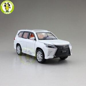 Image 5 - JACKIEKIM modelo de coche fundido a presión LX570 SUV, juguetes para niños, iluminación de sonido, coche extraíble, regalos para chico y Chica, 1/32