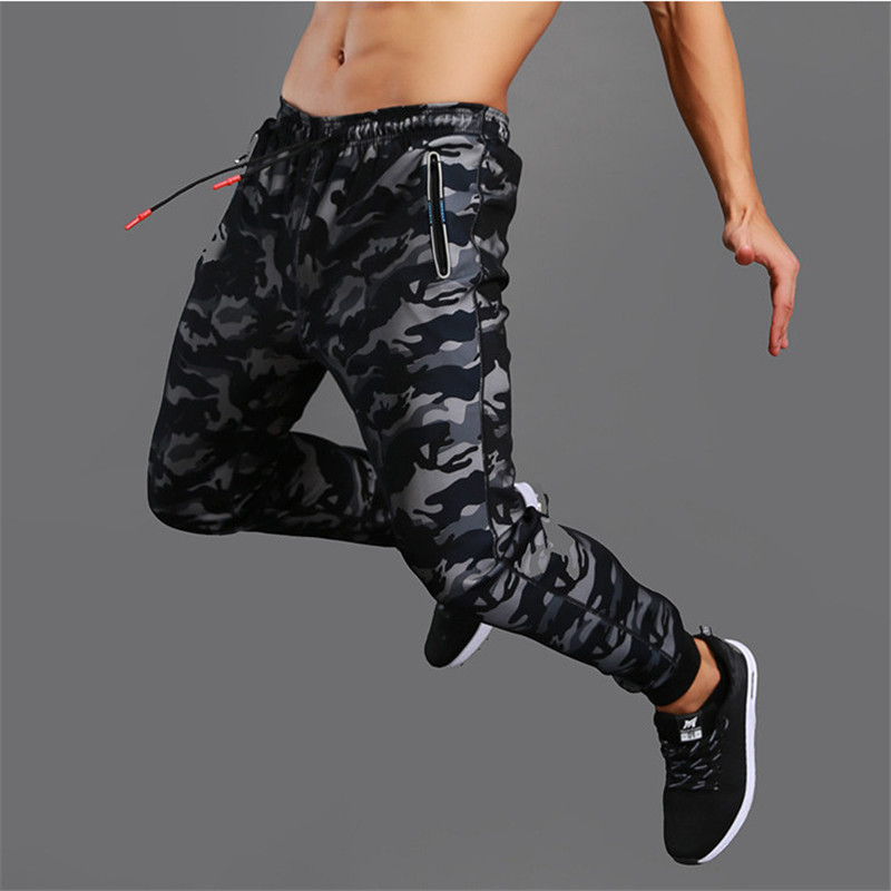 Spring Autumn New High Quality Jogger Camouflage Gyms Pants Men Fitness Bodybuilding Gyms Pants Runners Clothing Sweatpants-in Skinny Pants from Men's Clothing