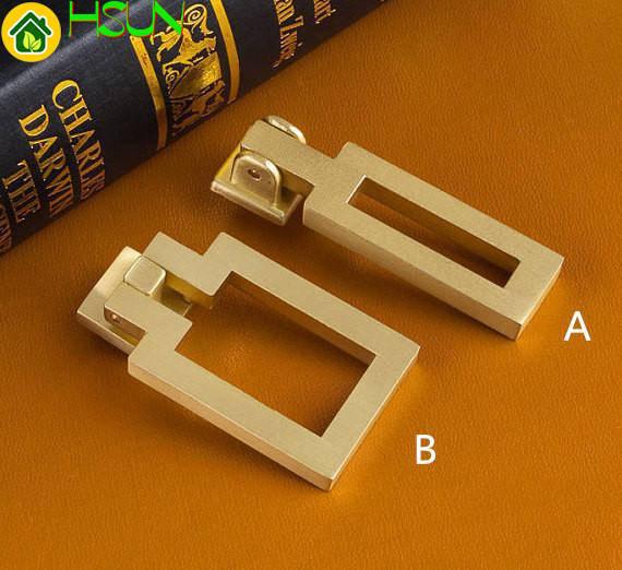 Square Gold Cabinet Handle Door Knob Dresser Knobs Drop Ring Drawer Pull Handles Drop Kitchen Cupboard Knobs in Door Handles from Home Improvement