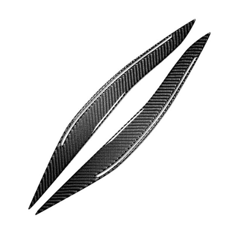 Carbon Fiber Headlights Eyebrows Eyelids For <font><b>BMW</b></font> <font><b>F10</b></font> <font><b>5</b></font> Series 2011-2017 Front Head Light Lamp Eyebrows Trim Cover Accessories image
