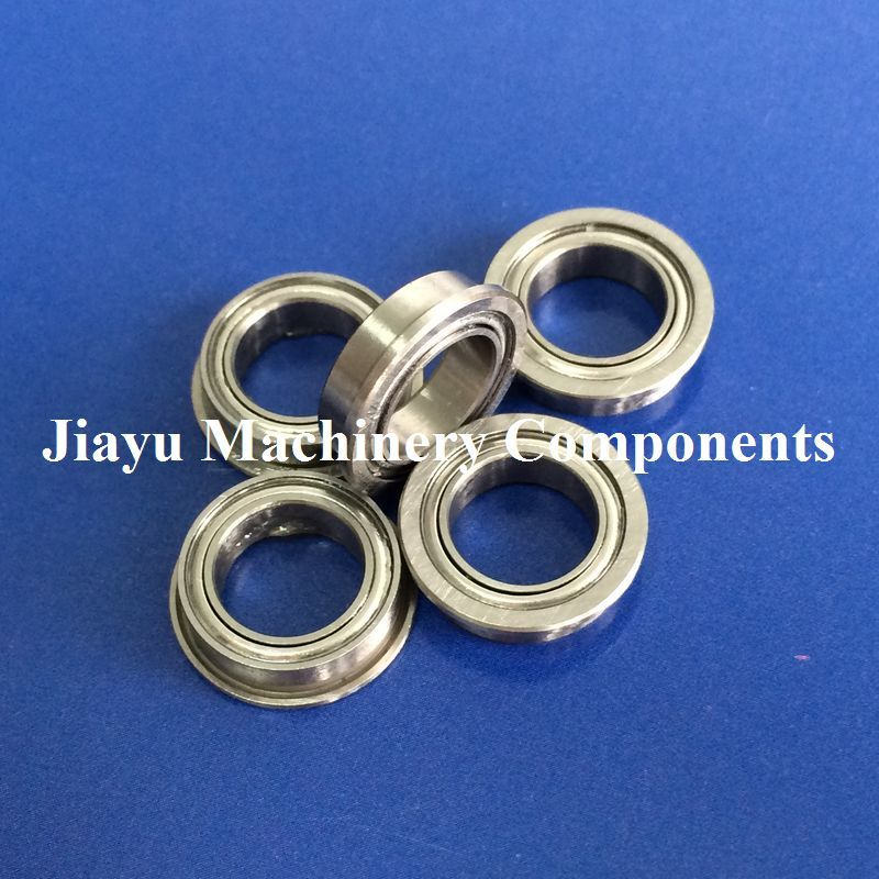 Free Shipping 10 PCS MF85ZZ Flanged Bearings 5x8x2.5 Mm Flange Ball Bearings LF-850ZZ