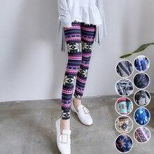 1cae6aeb3631b8 Women Warm Winter Knit Snowflake Leggings Casual Slim High Elastic Stretch  Pants Fashion Colorful Graffiti Printing