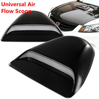 Universal Roof Car Auto Decorative Hood Scoop Air Flow Intake Hoods Scoop Vent Bonnet Cover For JDM Style For Flat Car Hood Only