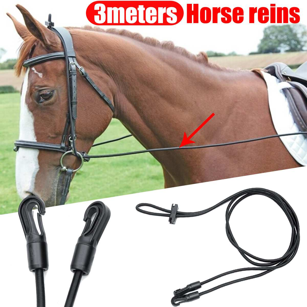 Equestrian Neck Stretcher for Horse to Stretch Neck and Lower Frame 3 Meters