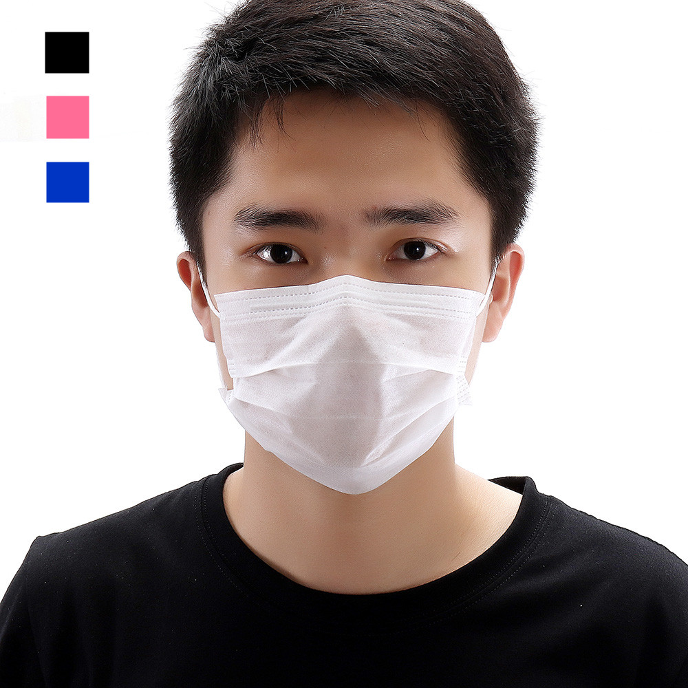 20pcs Disposable Face Mask Protective Cover Medical Doctor Masks Sterilized Anti Dust Virus 3 Layer Dustproof Mouth Masks image