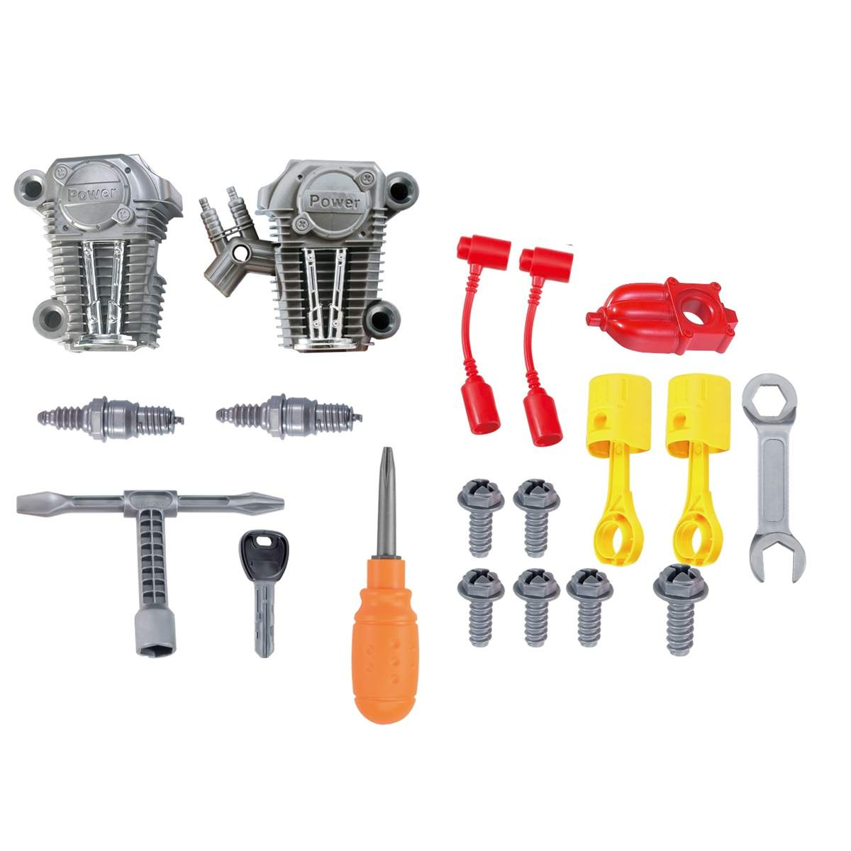 Motor Engine Toys Puzzle Disassembly Assembly Hands On DIY Repair Tools Set Model Building Kits Boys Children Kids Gifts