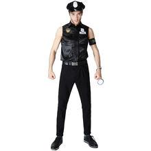 Взрослый полицейский костюм для мужчин раньше мужской карнавальный