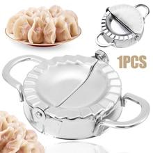 1pcs Stainless Steel Dumpling Maker Wraper Dough Cutter Pie Ravioli Dumpling Mould Kitchen Pastry Tools Accessories цена 2017