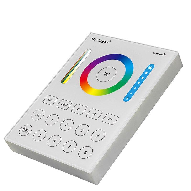CLAITE Entièrement Compatible avec RVB + CCT B8 8-Zones Mural Panneau Intelligent LED Gradateur Contrôleur Fonctionne Avec RVB + CCT Projecteur Ampoule
