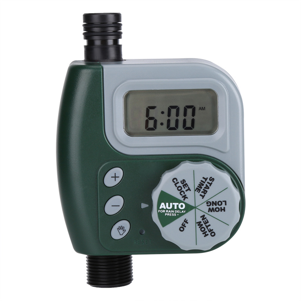 Automatic Digital Garden Water Timer Watering Irrigation System Controller with Filter G3/4 Auto Timer Outdoor Irrigation(China)