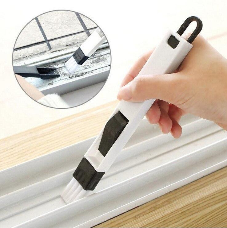 2 en 1 brosse de nettoyage de clavier d'écart de fenêtre de ménage polyvalent avec la brosse de fente de pelle à poussière