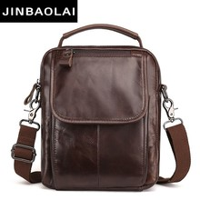 цены Messenger Bag Men Shoulder bag Cowhide Genuine Leather Small male man Crossbody bags for Messenger men Leather bags Handbag 8894