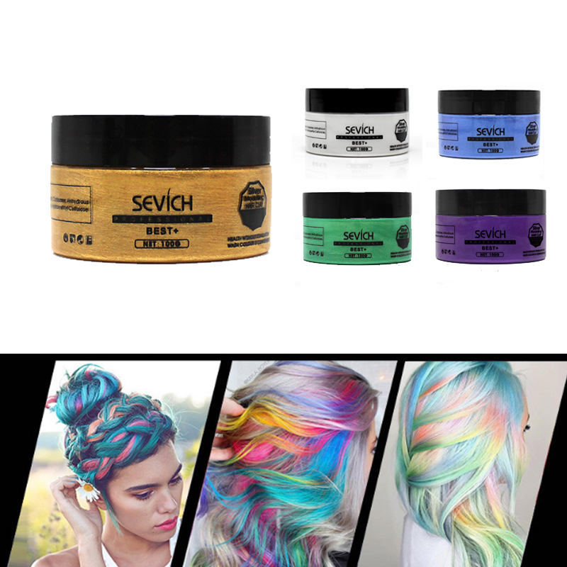 Hair Color Wax Cream Pastel Hairstyles Temporary Hair Dye Gel Mud Paint Mud Colored Creme Green Silver Coloring Waxs Unisex Hair Color Aliexpress