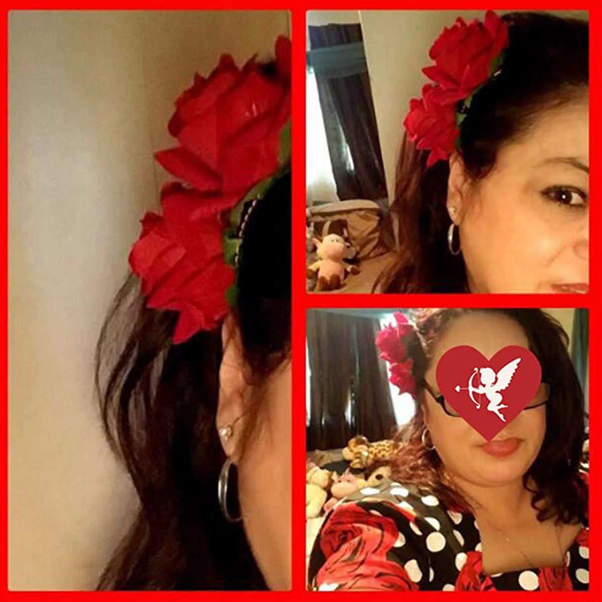 Rose Bunga Rambut Klip Slide Flame Spray Pin Bros Bunga Wanita Styling Rambut Klip Rambut Aksesoris