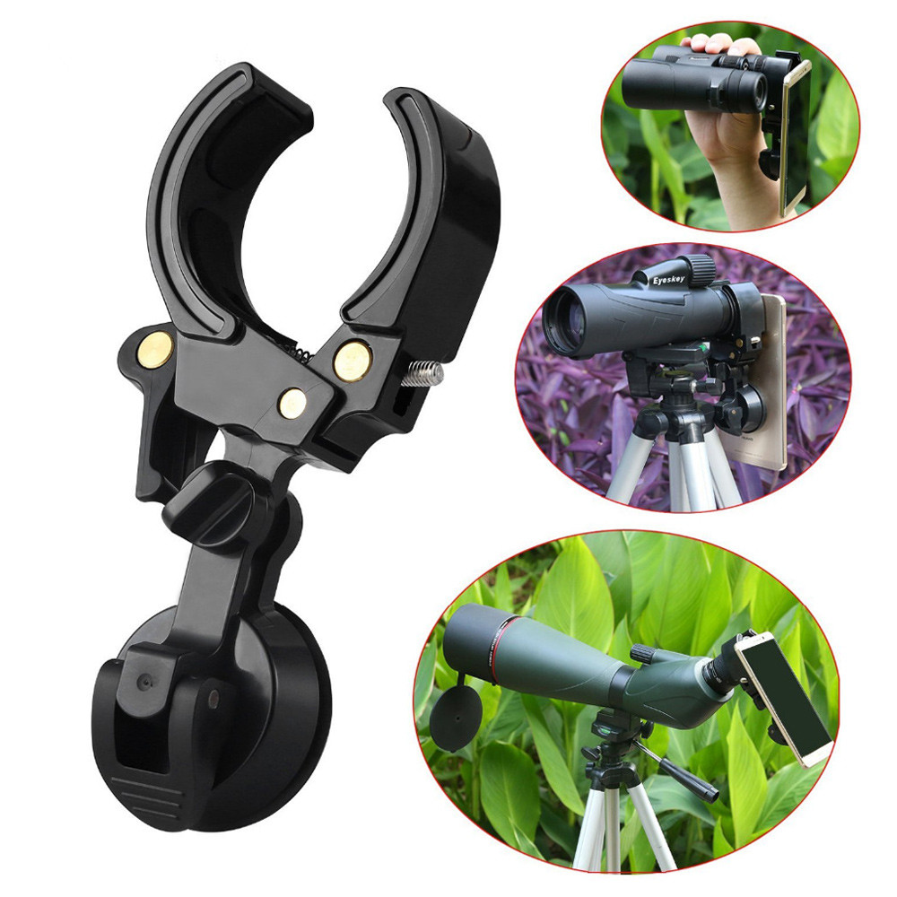Bakeey <font><b>Phone</b></font> Adustable Rotate <font><b>Camera</b></font> <font><b>Phone</b></font> <font><b>Lens</b></font> Clip Universal Scope Monocular Fish Eye Clip Digital Rubber Suction Mount Holder image