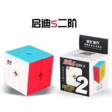 Mofangge QidiS 2x2 Qidi 2x2 Stickerless/черный скоростной куб Твист Головоломка обучающая игрушка Прямая поставка