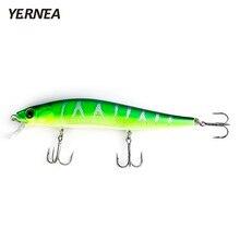 Yernea Fishing Lures 5 Colors 1PCS 14cm 22.4g Minnow Wobblers 3D Eyes Artificial Bait Carp Tackle Crankbait Accessories