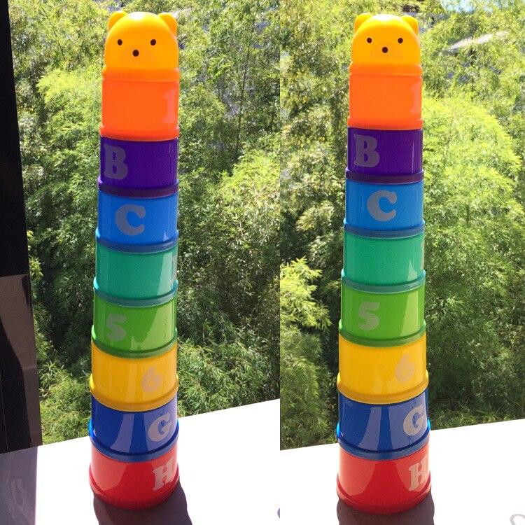 1 Set Kinder Pädagogisches Spielzeug Stapeln Tassen Frühen Kindheit Baby Baby Sätze Von Schalen Gestapelt Hohe Kindergarten