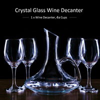 1700ML Red Wine Decanter Handmade Crystal Brandy Champagne Decanter Bottle Jug Pourer Aerator Drinking Glasses