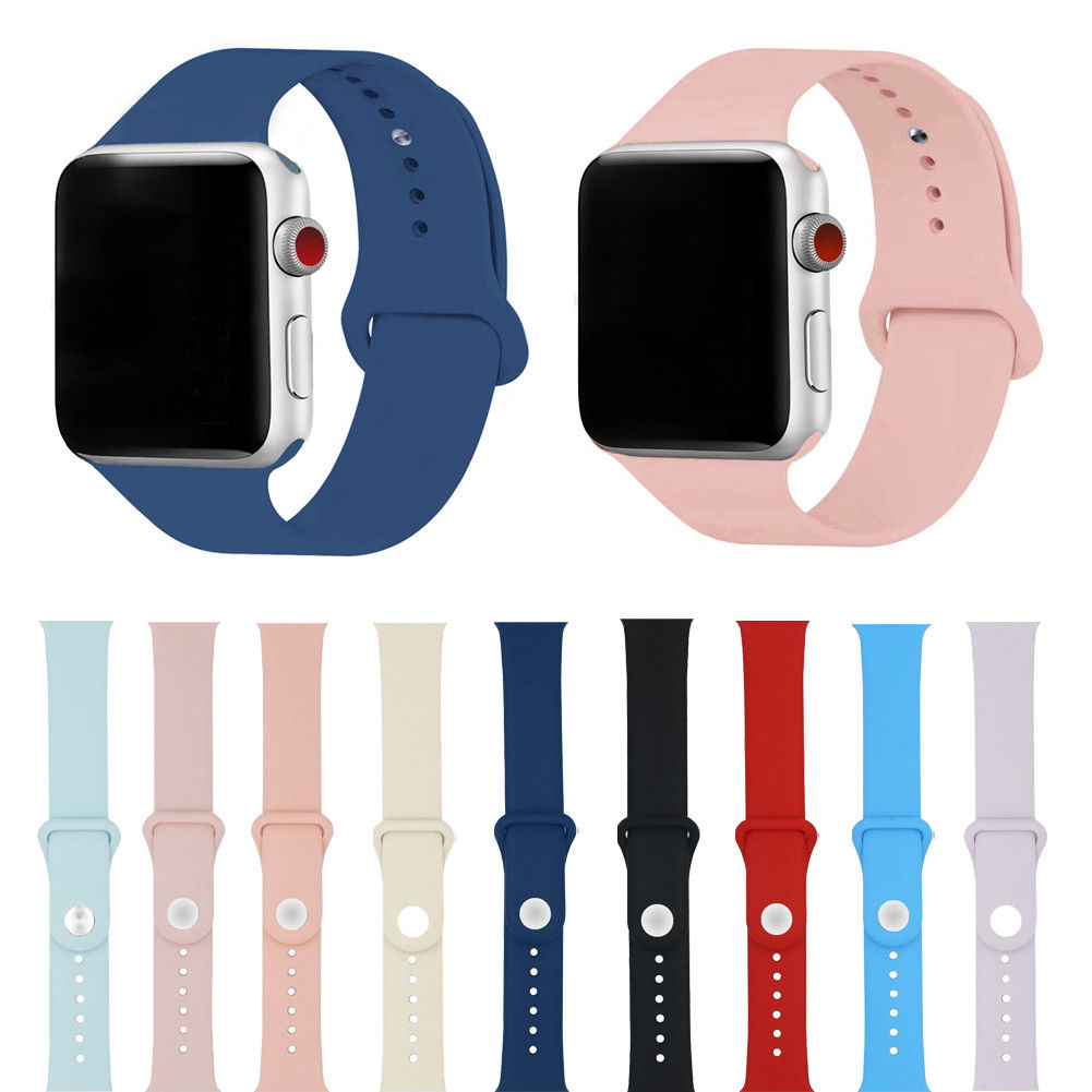 Replacement Silicone Sport Band Strap for Apple Watch 38mm 42mm iWatch Small Hot pulseira apple watch 4