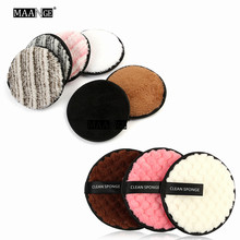 1pcs Soft Fiber Lazy Makeup Remover Puff Double Sided Makeup Sponge Easy to Use Facial Wash Puff Beauty Make Up Remover Tools(China)