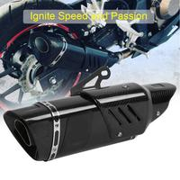 Motorcycle Exhaust Modify Exhaust Muffler Rear Pipe Tailpipe Universal for Yamaha R1 R3 R6 Carbon Fiber