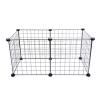 Small Dog Indoor/Outdoor Enclosure Iron Run Cage Puppy Playpen Foldable Rabbit Pet Fence