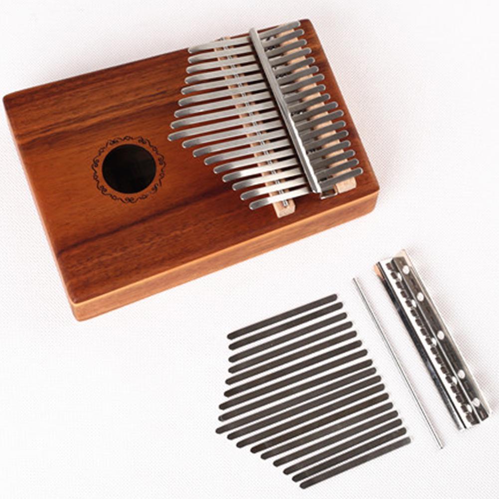 Manganese Steel Nickel Plating Replacement Keys For African 17 Keys Kalimba Mbira Thumb Piano Parts Instruments Accessories