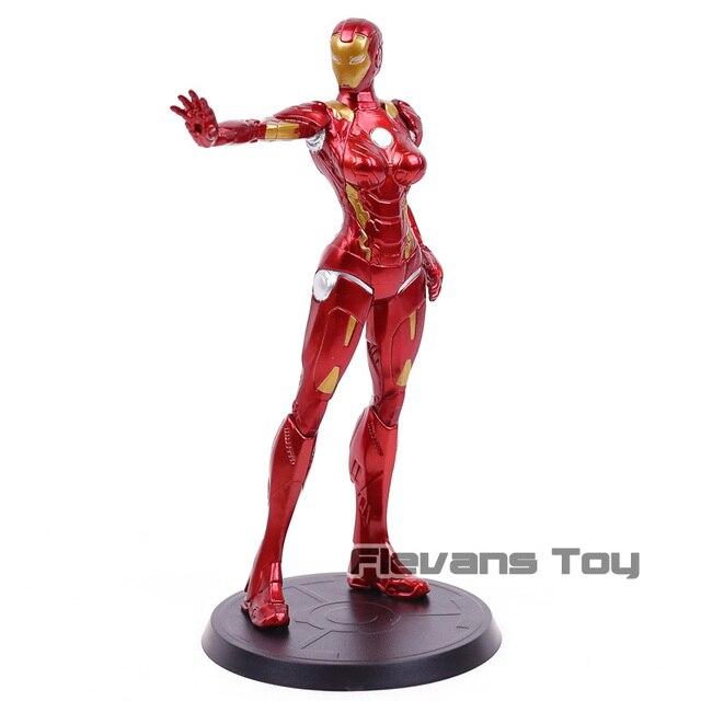 Super herói stark indústrias x faction ferro senhora pimenta potts mk8 pvc figura de ação collectible modelo brinquedo