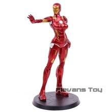 Superbohater Stark Industries x frakcja żelazna dama pieprz Potts MK8 pcv figurka Model kolekcjonerski zabawka
