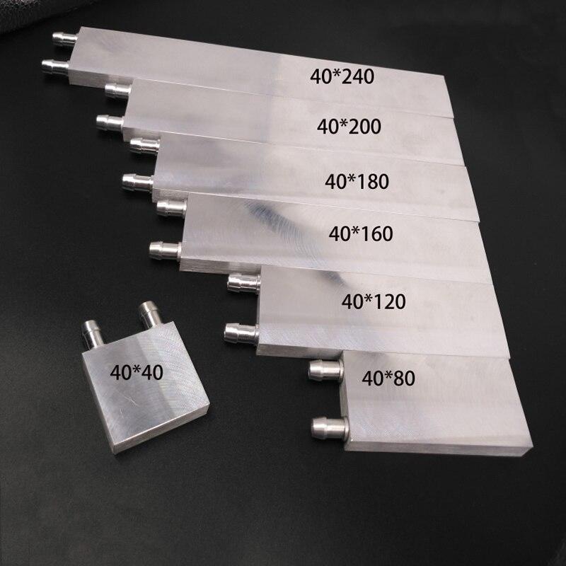 Bloco De Resfriamento De Água de Alumínio ARSYLID 40*200*12mm 40mm 80 milímetros 120 milímetros 240 milímetros Líquido refrigerador de água do Dissipador de Calor Para CPU GPU PC Laptop