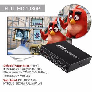Image 4 - SCART HDMI HDMI 변환기 풀 HD 1080P 디지털 고화질 비디오 컨버터 어댑터 HDTV 오디오 변환기 d25