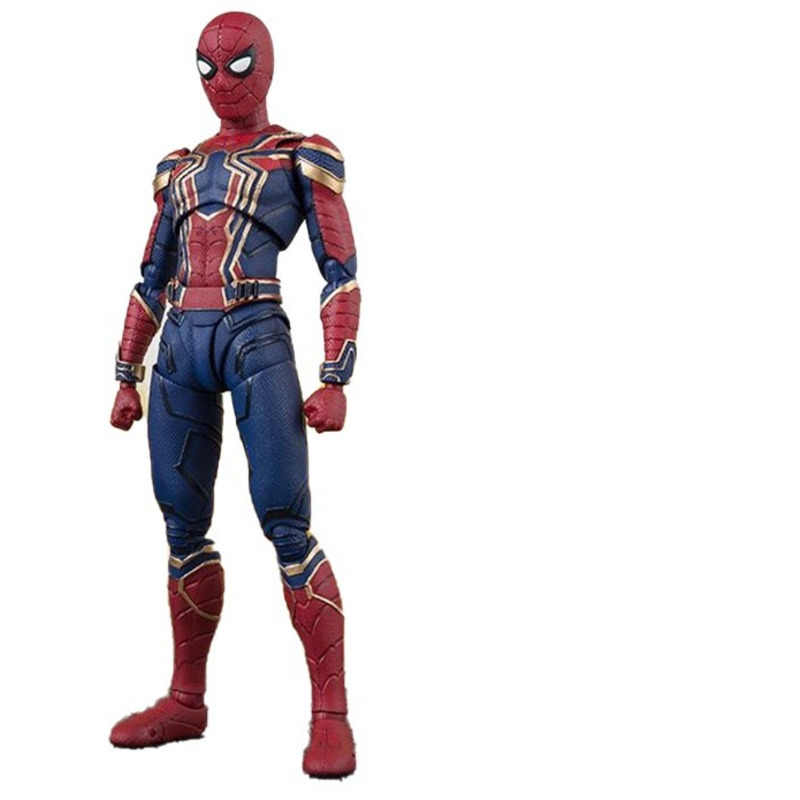 SHF Marvel Legends Giocattoli 14 centimetri Spiderman iron man Pvc Modello Action Figure Avengers Film di guerra Infinita Figma Regalo Da Collezione bambola