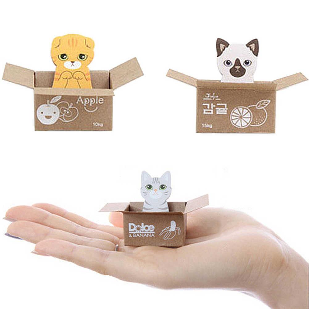 มินิน่ารัก Kawaii การ์ตูนสัตว์แมว PANDA MeMO Pad Sticky Notes Memo โน้ตบุ๊คเครื่องเขียนหมายเหตุสติกเกอร์กระดาษอุปกรณ์โรงเรียน