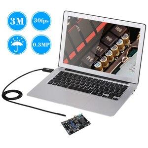 Image 3 - OWSOO 6 LEDs Borescope 5.5MM USB endoskop 3M kablo probu su geçirmez muayene Borescope USB yılan tüp kamera OTG uyumlu