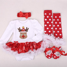 3f6ff04a027 Infant Baby Girl Summer long Suit Novelty Costume Baby Christmas Clothing  Sets Santa Rompers Birthday Party