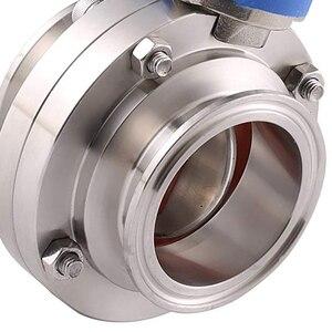 Image 5 - 1 1/2 אינץ 38mm SS304 נירוסטה סניטרי 1.5 אינץ Tri קלאמפ פרפר שסתום הדק לסחוט עבור Homebrew חלב מוצר