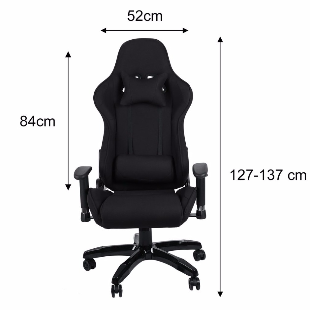 Купить с кэшбэком (ship From De)new Ergonomic High Back Racing Chair Adjustable Fabric Executive Computer Chair Revolving Home Office Furniture