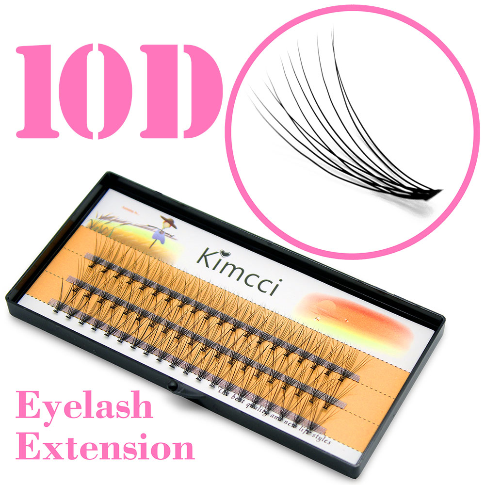 Kimcci 0.10C (6/8/9/10/11/12 / 14mm) Available Natural Makeup Quality Best False Eyelashes Individual Mink Eye Lashes Extension
