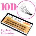 Kimcci 60 piezas largo Natural cúmulo Individual de extensión de pestañas profesional 10D visón pestañas postizas pestañas maquillaje de ojo pestañas